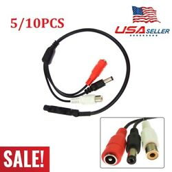 5/10pcs Audio High Sensitive Mic Microphone Cable For Cctv Security Camera Dvr
