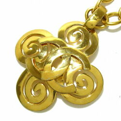 Necklace Coco Mark Gold Metal Material Previously Owned No.6447