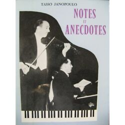 Janopoulo Tasso Notes And Design Trivia 1957 Sheet Music Score