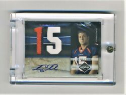 2010 Tim Tebow Panini Limited Prime Rookie Auto Rc 3-color Jersey Patch 1/5 Rare