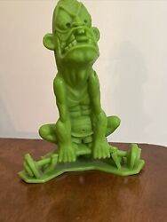Vintage Marx Nutty Mads Green Waldo The Weight Lifter Toy Figure 1968 Mint