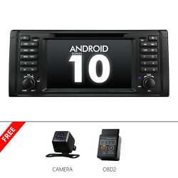 Cam+obd2+ 1 Din Android 10 7 Car Stereo Gps Sat Nav Radio Audio Dvd For Bmw E39