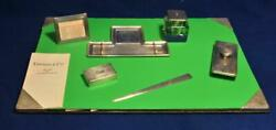 Vintage Authentic And Co. Sterling Silver 7 Piece Desk Writing Set Rare