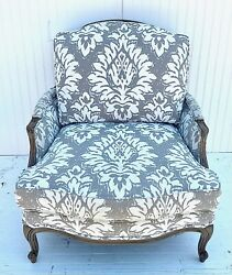 Country French Model Ethan Allen Versailles Chair Damask Print
