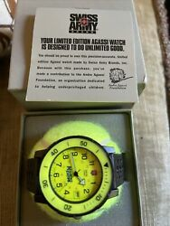 Rare In The Box Mountain Dew Swiss Army Watch On A Tennis Ball