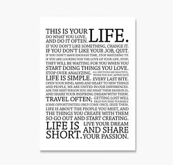 Holstee Manifesto Poster This Is Your Life Canvas Do What You Love Print Art