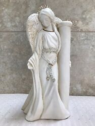 Rare United Design Corp. Candle Lights Ivory Angel Candlestick Cl-036 Chip 2