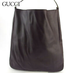 Shoulder Bag One Women 's Mens With Inner Pouch Brown Silver No.703