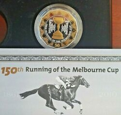Gold Cup 2010 150th Running Of Melbourne Cup Silver Gold Plated 50c Proof