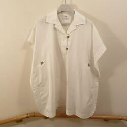 Hermes 2021 Tunic Shirt Blouse Dunkle White From Japan No.7028