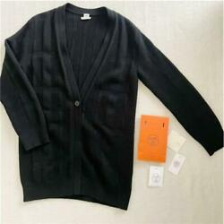 Hermes Popular Immediately Sold Out Cardigan Black From Japan No.7134