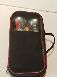 Vintage Jb Lawn Bowling Bocce Petanque Boules 8 Balls And Target Ball + Case