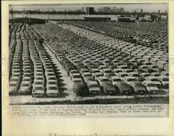 1975 Press Photo 10000 Imported Small Cars On The Docks Of Port Of Houston