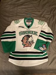 Authentic, New, With Tags North Dakota Fighting Sioux Hockey Jersey Size 50