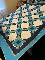 """Handmade Hand Quilted 105""""x 105"""" Quilt"""
