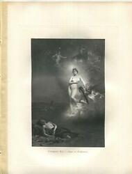 Antique Artistic Nude Diana Shepherd Sheep Endymion Dreaming Horse Angel Print