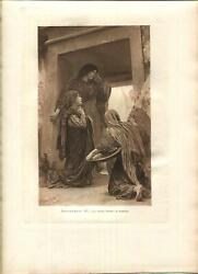 Antique Three Mary 's Tomb Of Jesus Christ Angel Mary Magdalene Bouguereau Print