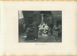 Antique Victorian Women Mother Camera Taking Photograph Family Parlor Art Print