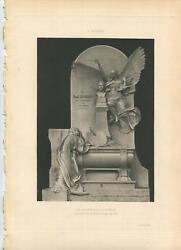 Antique Paul Jacques Aime Baudry Glory Pain Angel Coffin Tombstone Grave Print