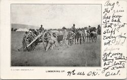 Limbering Up Soldiers Cannon Indiana To Zion City Il C1906 Pj Plant Postcard E62