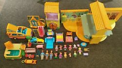 Vintage Rare Dora The Explorer Talking House And Pool Play Set Figures And Furniture