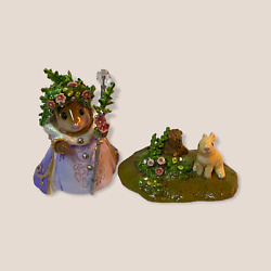 Wee Forest Folk Special Fairy Tales Spring Queen W/ Her Bunny Sold Out