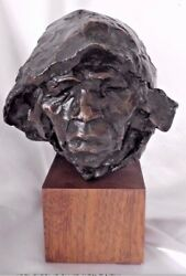 Vintage 1974 George Carlson Bronze Old Woman Of Choguita 8/21 Limited Rare