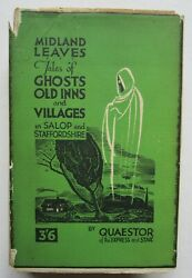 1934 Ghost Stories And Tales Shropshire And Staffordshire Elliott Oand039donnell Interest