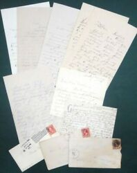 1892-1917 Antique Lot Ephemera6 Letters,covers,postage Stamps Bedford Pa Boor