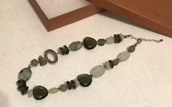 Prehnite Serpentine Chalcedony Necklace 18 To 20 Sterling Silver Silpada N1995