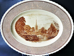 Myott Son And Co.,hanley Est 1880 Collector Oval Plate Shakespeare Land ''stafford