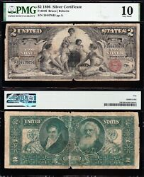 1896 2 Educational Silver Certificate Pmg 10 Free Shipping 16447645