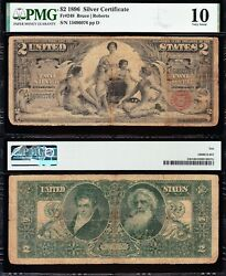 1896 2 Educational Silver Certificate Pmg 10 Free Shipping 15696076