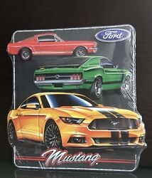Ford Mustang Embossed Metal Sign - Size 12.5 X 13 - New With Tags