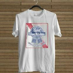 New Pabst Blue Ribbon Pbr Vintage White Tee Usa Size S To 3xl T-shirt