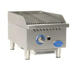 Globe - Gcb15g-cr - 15 In Radiant Gas Charbroiler