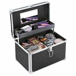 Womenand039s Cosmetic Organizers Suitcase Solid Portable Hasp Closure Make Up Storage