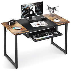 Odk Computer Office Desk With Keyboard Tray 47 Inch Sturdy Home Office Desk For