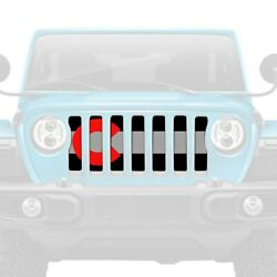 For Jeep Gladiator 20 Dirty Acres 1-pc Colorado Red Style Perforated Main Grille