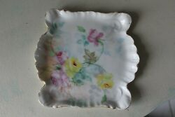J.p.l France Signed G.b.g.6.75 X 7 Trinket Tray/plate Square Hand Painted