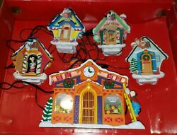 Vintage Mr. Christmas Mechanical Collectibles Mickey's Clock Shop Disney 1993