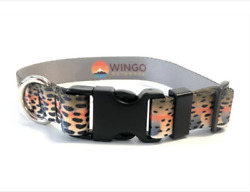 Wingo Outdoors Repyourwater Cutthroat Trout Dog Collars Leashes Awesome New