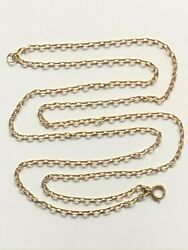 Antique Victorian Gold On Sterling Silver Muff Chain Guardsman Necklace 20.12g