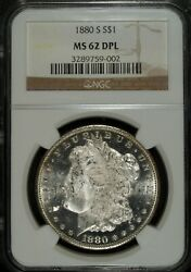 1880 S Ngc Ms 62 Dmpl Morgan Silver Dollar ☆☆ Uncirculated ☆☆ Great For Sets 002