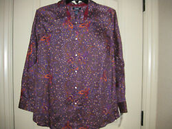 Chaps Women's Size 2x Long Sleeved No Iron Shirt, New With Tags