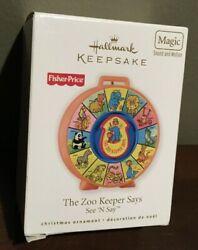 2010 Hallmark Ornament Fisher Price The Zoo Keeper Says See N Say Sound
