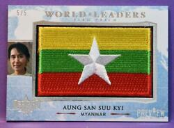 Decision 2020 Preview World Leaders Flag Wl074 Aung San Suu Kyi Myanmar And039d 5/5