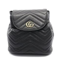 Gg Marmont Backpack Mini Razor Black Quilting 528129 Previously No.9151