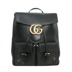 Backpack Sold Goods Razor Gg Marmont Black Gold Fittings 429007 No.9090