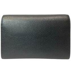 401231 Dionysus Mini Chain Bag Leather Black Silver Fittings No.9636